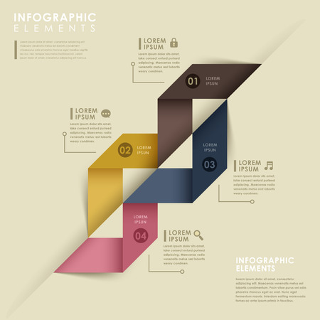 modern vector abstract colorful origami infographic elements Vector