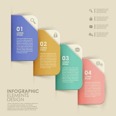 modern vector abstracte kleurrijke banner infographic elementen