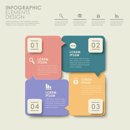 modern vector abstract colorful option  infographic elements Vector