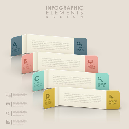 modern vector abstract colorful banner infographic elements Vector