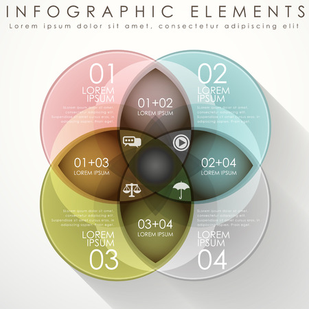 modern vector abstract circle option infographic elements Vector