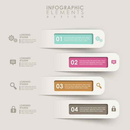 origami banner: modern vector abstract origami banner infographic elements