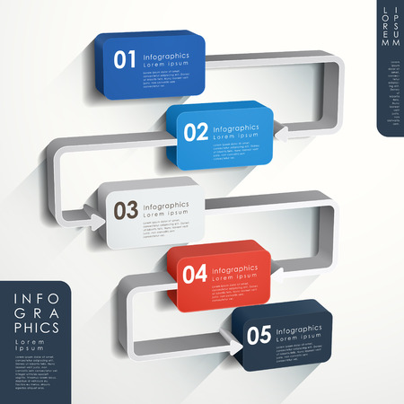 flow chart: modern vector abstract flow chart infographic elements