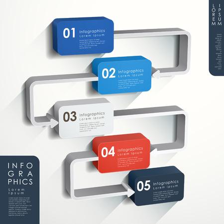 flujo: vector moderno flujo abstracto elementos infogr�ficos gr�fico