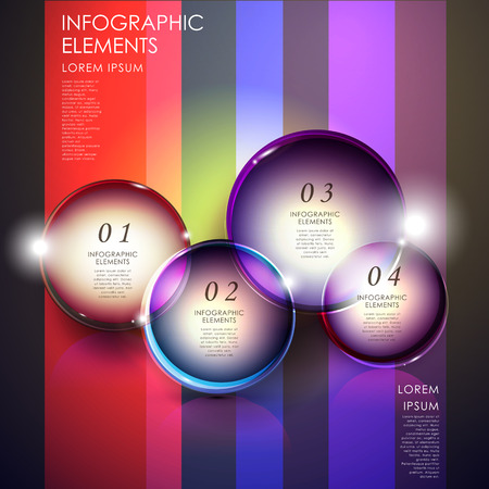 lighted: modern vector abstract lighted bubble infographic elements