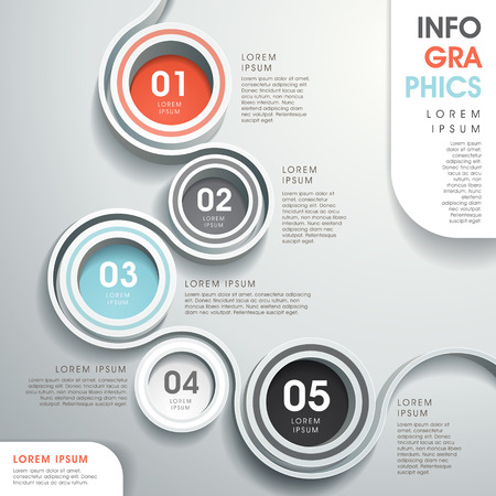 Modernen Vektor abstrakt Flussdiagramm Elementen Infografik Standard-Bild - 26469568