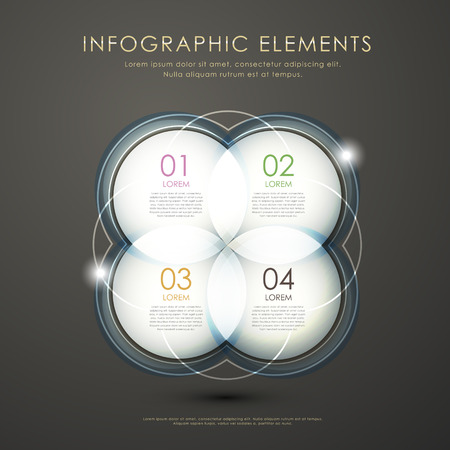 modern vector abstract circle option infographic elements Illustration