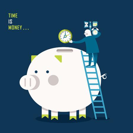 illustration concept of time is money Illustration