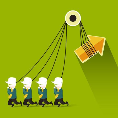 illustration concept of teamwork Vector