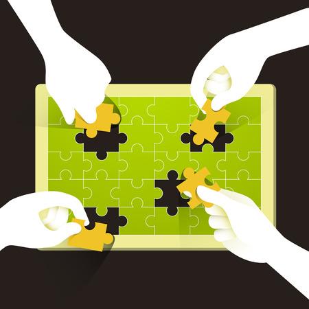 Illustratie concept van teamwork Stockfoto - 26697544