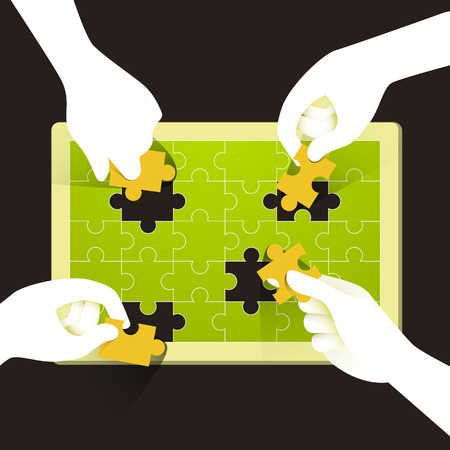 illustration concept of teamwork Illustration