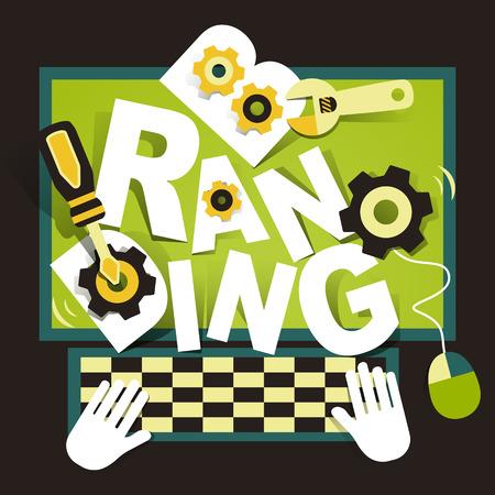 new development: illustration concept of branding