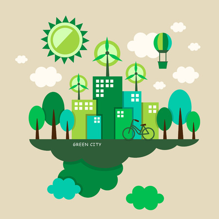 illustration concept of ecology Vector