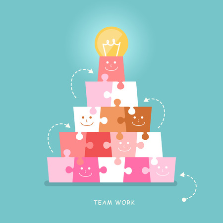 illustratie concept van teamwork Stock Illustratie