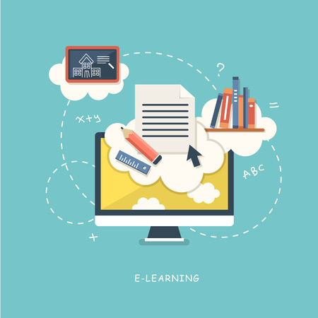 illustration concept for online education Vector