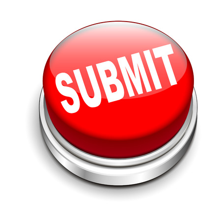 submission: 3d illustration of submit button isolated white background