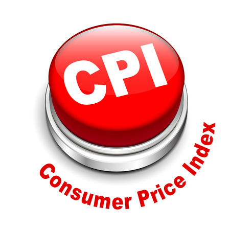 economists: 3d illustration of CPI ( Consumer Price Index ) button isolated white background