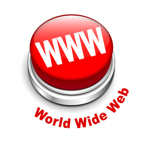 webhost: 3d illustration of WWW ( World Wide Web ) button isolated white background  Illustration