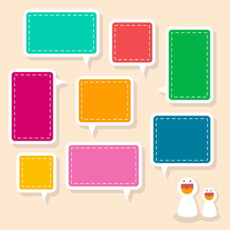 remind: colorful abstract paper speech bubble design elements
