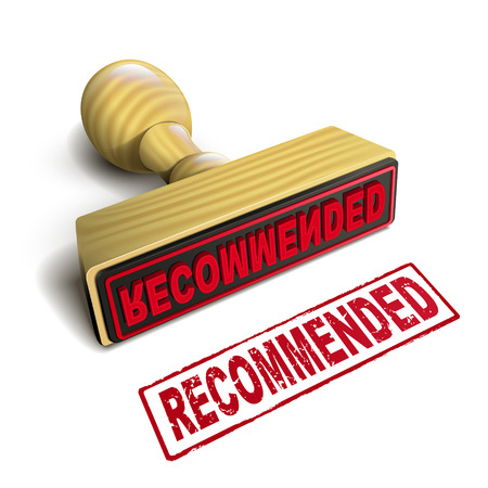 recommended: stamp recommended with red text over white background
