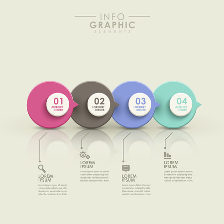 charts: modern vector abstract flow chart infographic elements