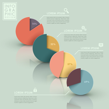 modern vector abstract pie chart infographic elements Vector