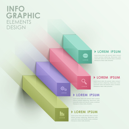 modern vector abstract bar chart infographic elements Vector