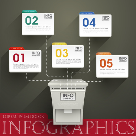 posting: modern vector abstract posting option infographic elements Illustration