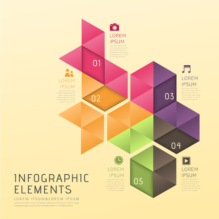 modern vector abstract low poly style infographic elements Vector