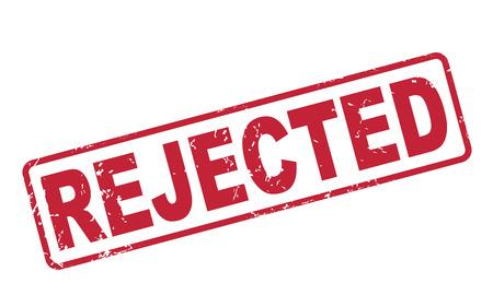 sello rechazado con el texto en rojo sobre fondo blanco