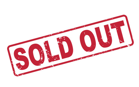 sold out: stamp sold out with red text over white background