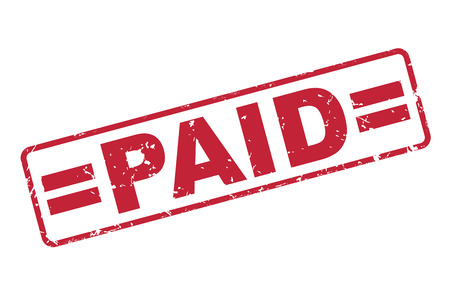 stamp of paid: stamp paid with red text over white background