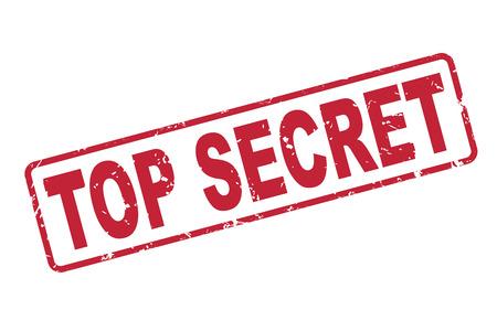 stempel top secret met rode tekst op een witte achtergrond Vector Illustratie