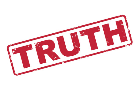 truthful: stamp truth with red text over white background Illustration
