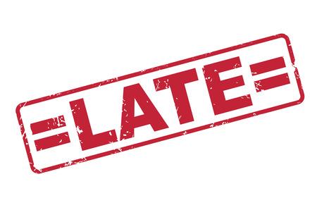 payable: sello tarde con el texto en rojo sobre fondo blanco