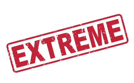 stamp extreme with red text over white background Vector