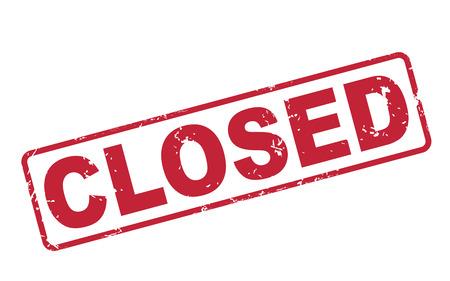 Zegel gesloten met rode tekst op een witte achtergrond Stockfoto - 27140666