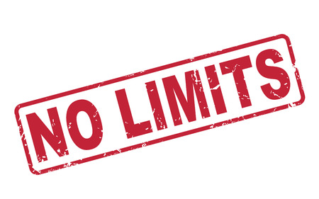 threshold: stamp no limits with red text over white background