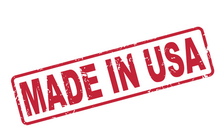 patent: stamp made in USA with red text over white background Illustration