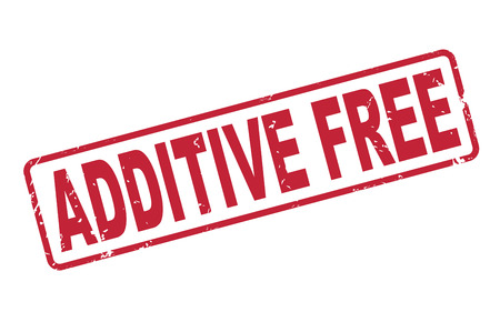 additive: stamp additive free with red text over white background Illustration
