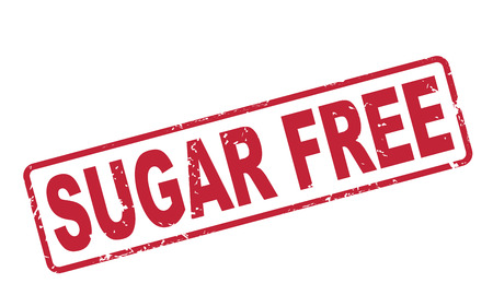 stamp sugar free with red text over white background Vector