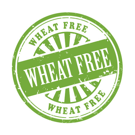 validation: illustration of grunge rubber stamp with the text wheat free written inside Illustration