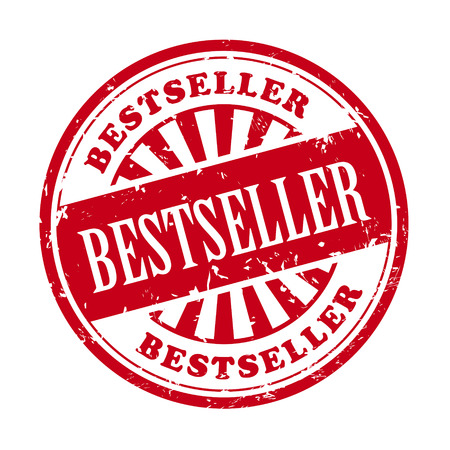 illustration of grunge rubber stamp with the text bestseller written inside Vector
