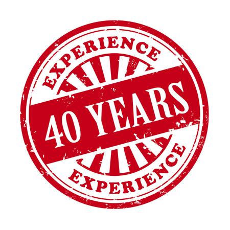 illustratie van grunge rubber stempel met de tekst 40 jaar ervaring in geschreven Stock Illustratie