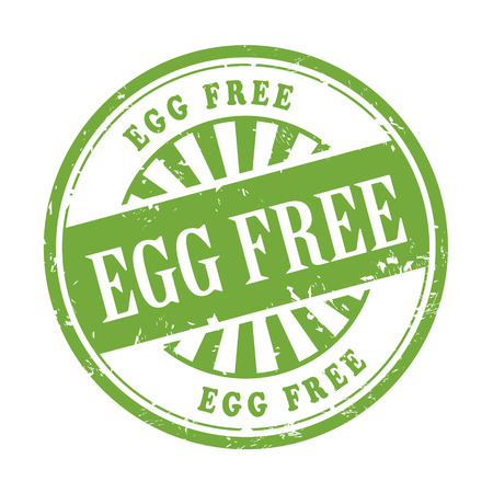 allergen: illustration of grunge rubber stamp with the text egg free written inside