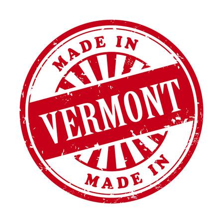 illustratie van grunge rubber stempel met de tekst gemaakt in Vermont geschreven binnen