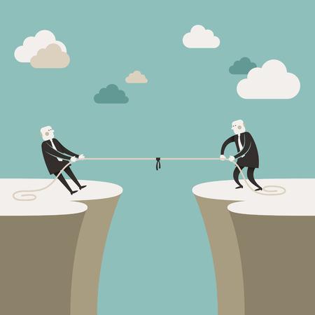 ilustración diseño plano vector concepto de carrera de negocios