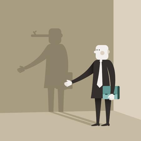 Vecteur de conception plate illustration concept de menteur Banque d'images - 27292870
