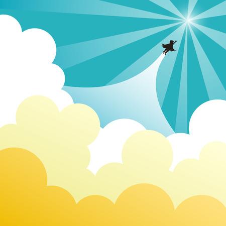 breakthrough: flat design vector illustration concept of up