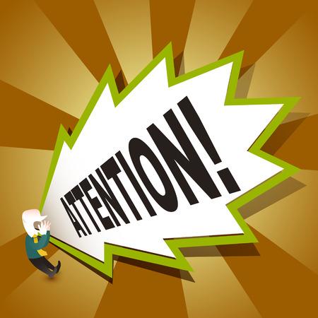 flat design vector illustration concept of attention Illustration